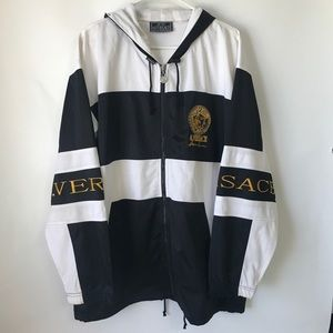 Versace RARE! embroidered logo jacket